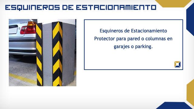 esquineros para de caucho en color amarillo y negroideal para proteger