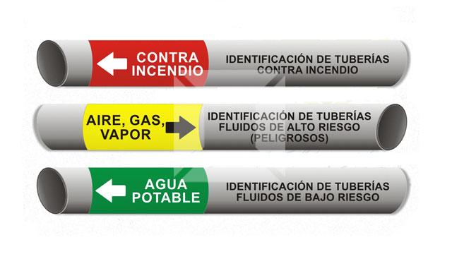 Código de colores para tuberías de fluidos